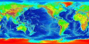 carte du relief du monde