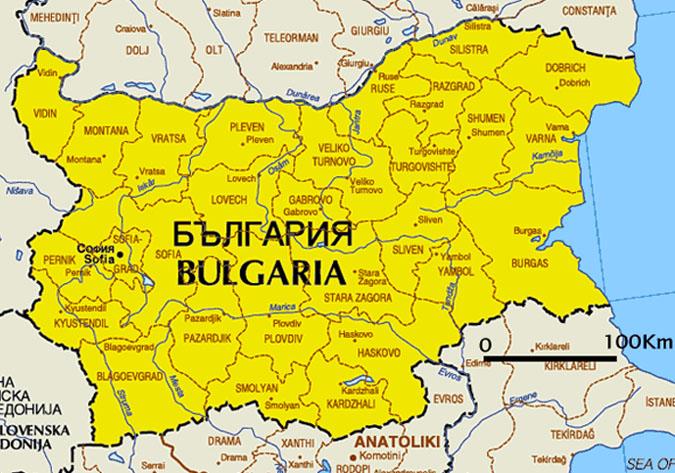 Maps of Bulgaria Cartemondeorg
