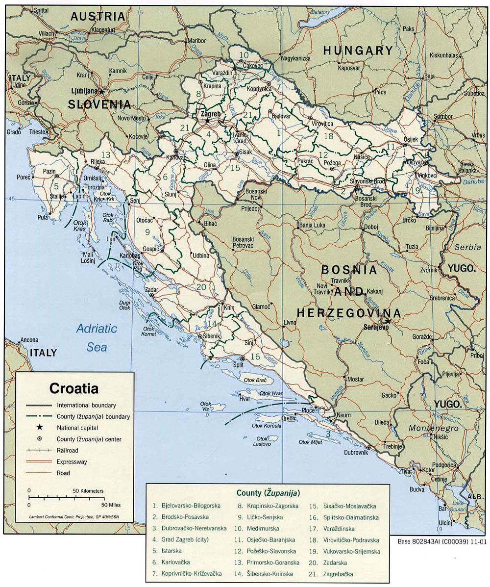 Cartes de Croatie   Carte monde.org