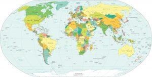 carte du monde politique, les pays