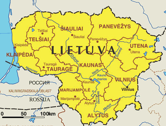 Maps of Lithuania Cartemondeorg