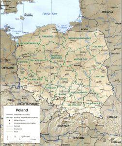 carte-pologne-relief-regions