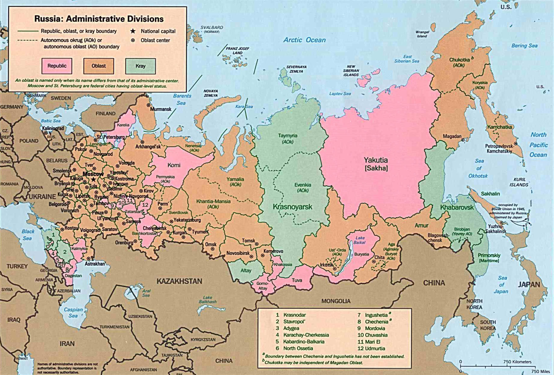 Maps Of Russia Cartemondeorg - Russia administrative map