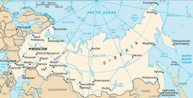 Carte Russie, Carte de Russie - Carte du monde, les cartes