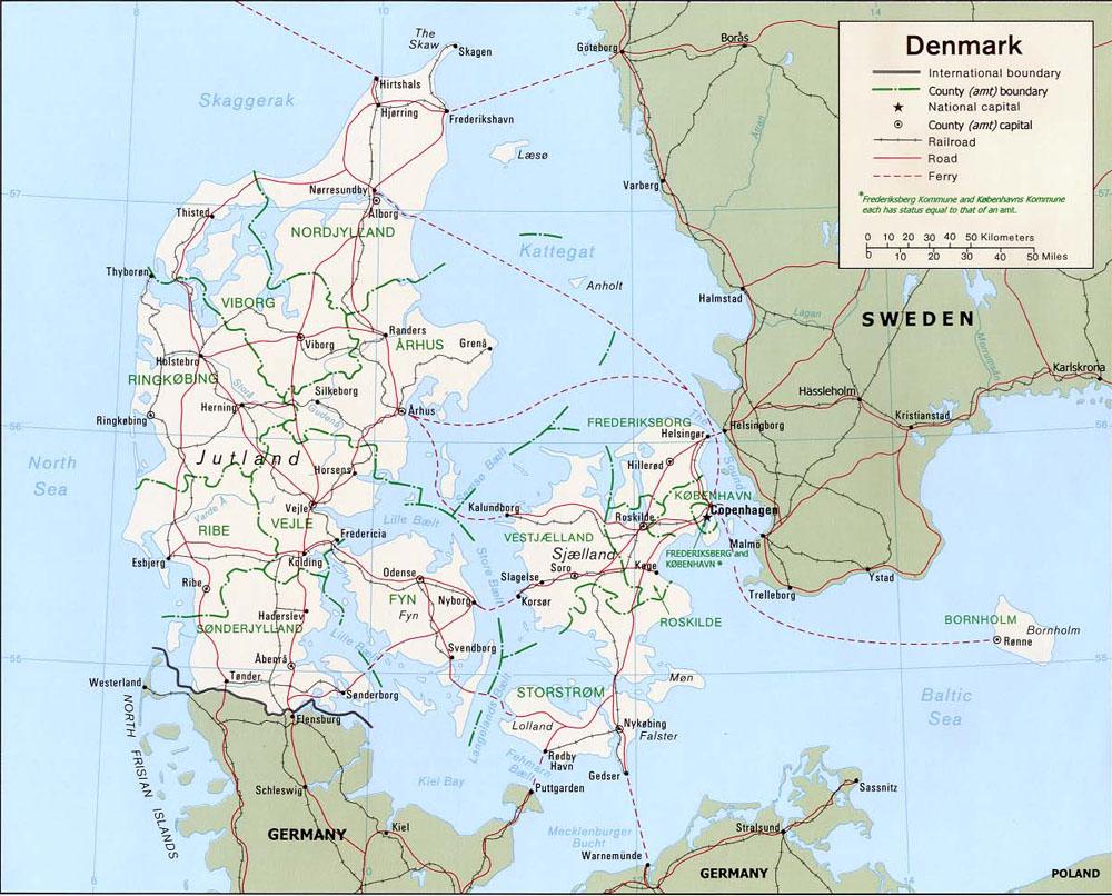 maps of denmark carte monde org