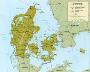 danemark-relief-carte