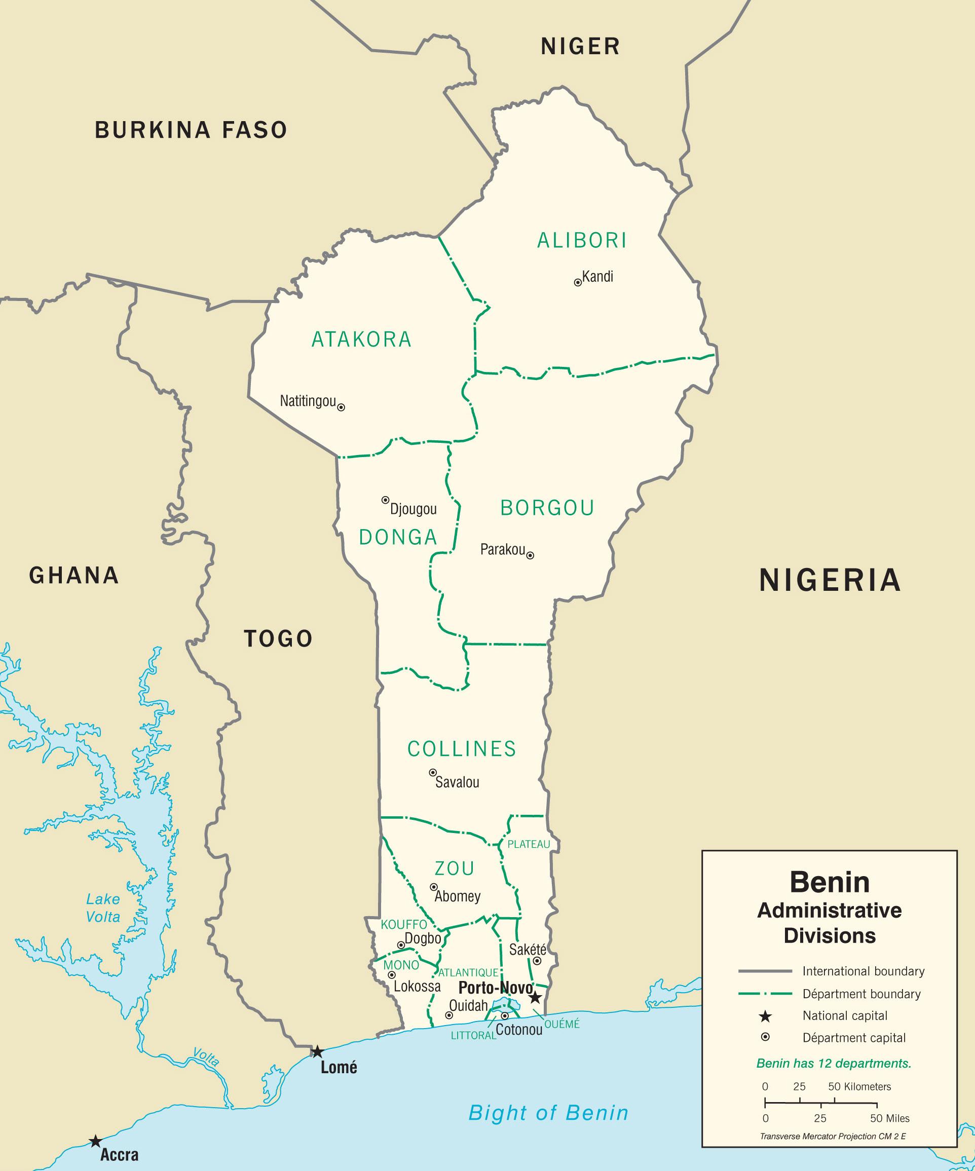 Relativ Cartes du Benin - Carte-monde.org WC19