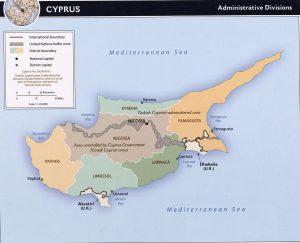 Carte administrative de Chypre