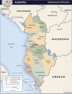 carte-albanie-regions