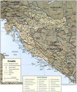 carte-croatie-relief