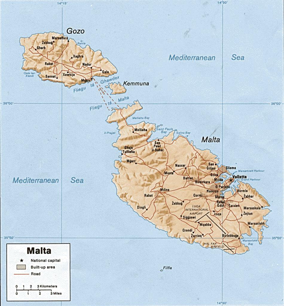 Cartes de Malte - Carte-monde.org