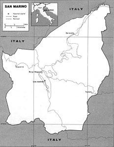 Carte de Saint-Marin