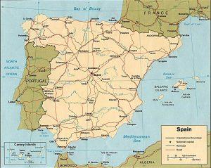 Carte politique de l'Espagne