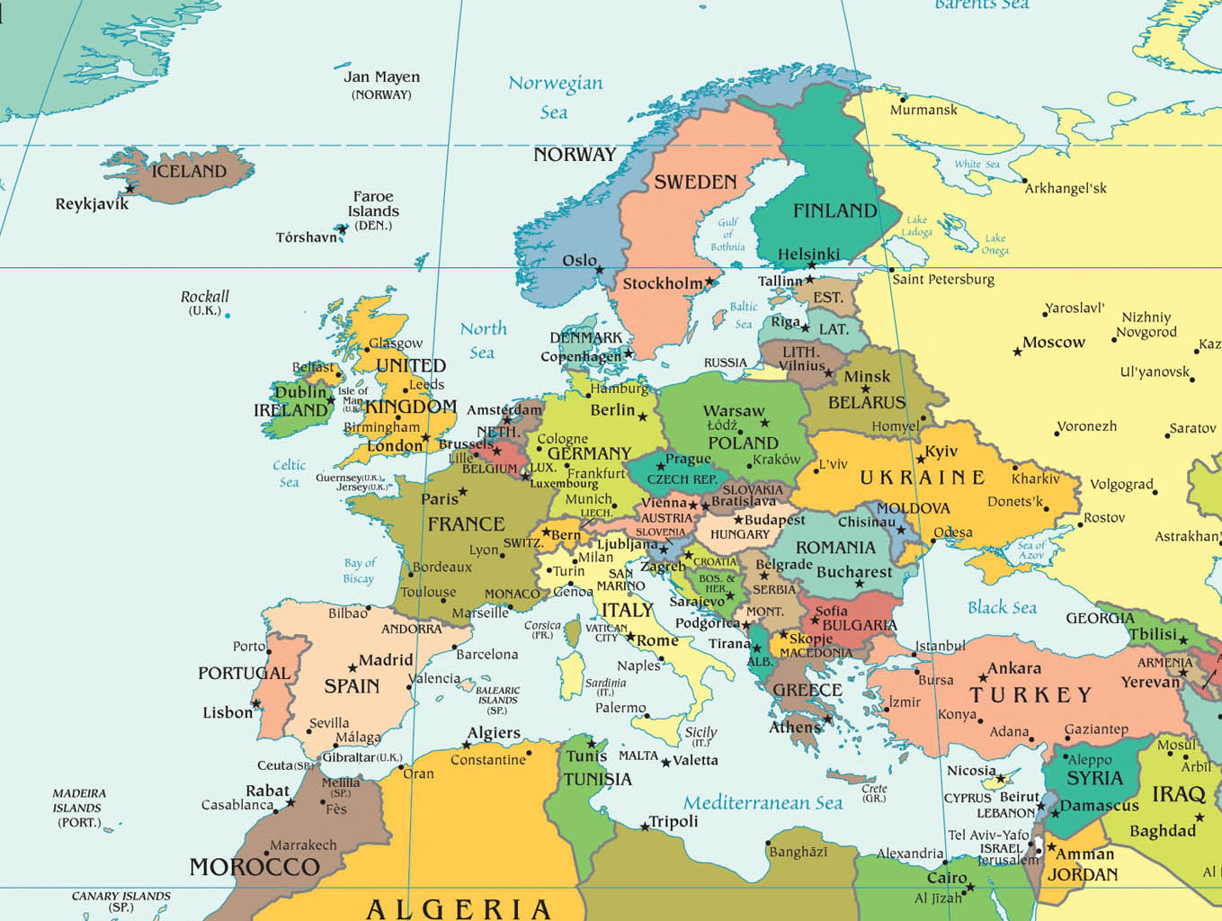 carte du monde europe