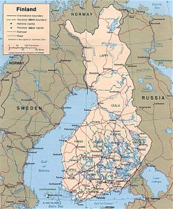 Carte politique de la Finlande