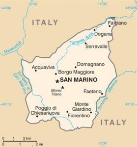 Carte générale de Saint-Marin