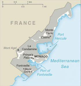 Carte générale de Monaco