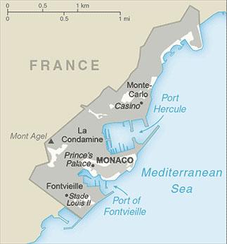 Monte Carlo World Map.Maps Of Monaco Carte Monde Org