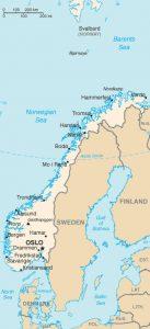 Carte générale de la Norvège
