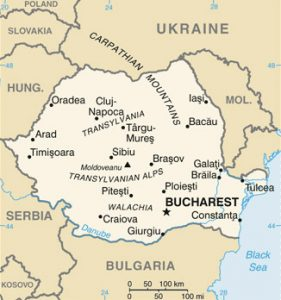 Carte générale de la Roumanie