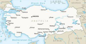 Carte générale de la Turquie