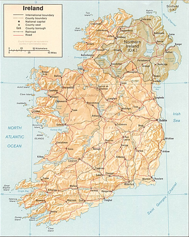 Maps of Ireland - Carte-monde.org Industrial Map Of Ireland on natural resources found in ireland, france map great britain ireland, map s and n ireland, tourism ireland,