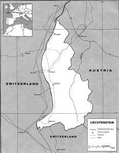 Carte générale du Liechtenstein
