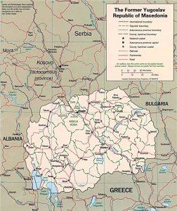 Carte politique de la Macédoine