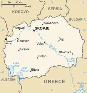 Carte de la Macédoine
