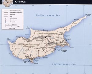 Carte politique de Chypre