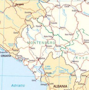 Carte politique du Montenegro