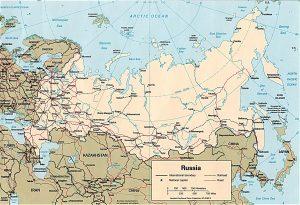 Carte politique de la Russie