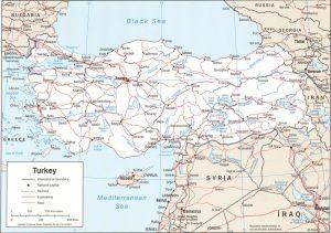 Carte politique de la Turquie