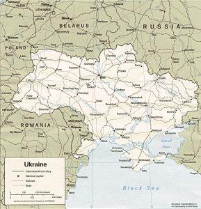 Carte politique de l'Ukraine