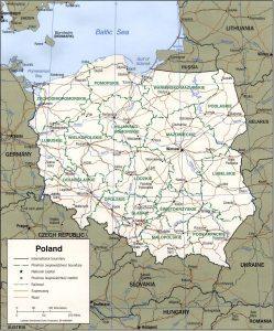 carte-pologne-regions-villes-routes