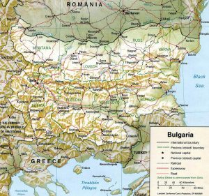 carte-relief-bulgarie