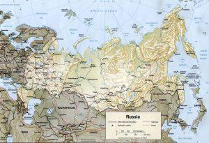 Carte du relief de la Russie