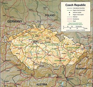 carte-republique-tcheque-relief