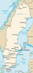 Carte générale de la Suède