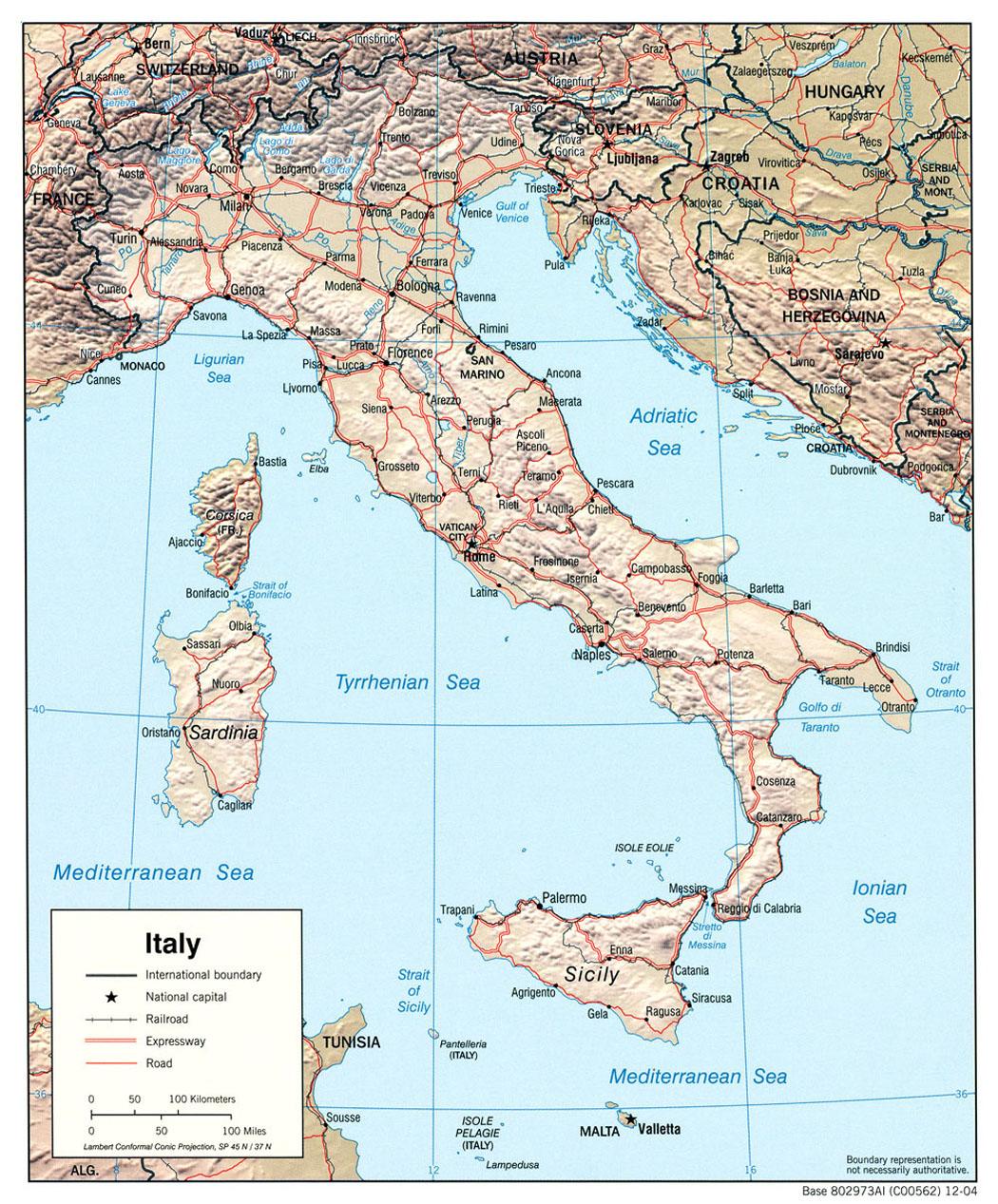 Cartes d'Italie - Carte-monde.org