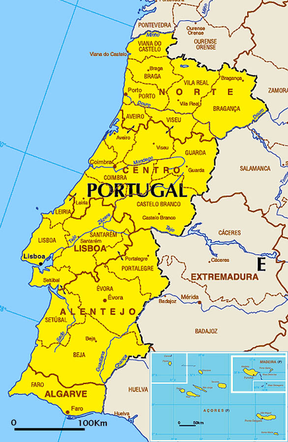 portugal-carte-du-monde - Photo