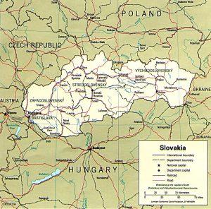 slovaquie-carte-administrative