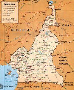 Carte politique du Cameroun