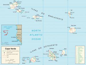 Carte administrative du Cap-Vert