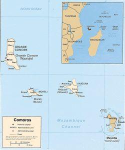 Carte administrative des Comores