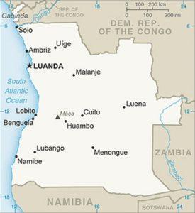 Carte de l'Angola