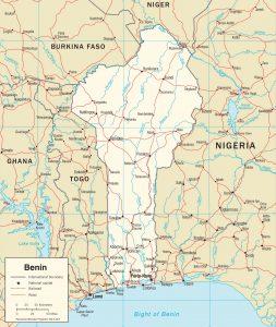 Carte politique du Bénin