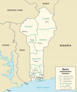 Carte administrative du Benin