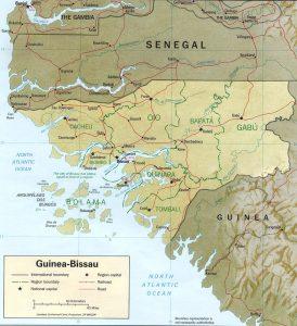 Carte de la Guinée Bissau