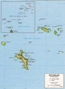 Carte en relief des Seychelles
